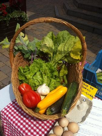 Panier de fruits et legumes