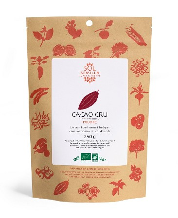 Cette poudre de cacao bio cru est obtenue à partir de cacao natif (variété criollo), l'une des rares à être réellement crue. <br /> <br /> Partie utilisée : fèves<br /> Origine : Equateur, Amazonie<br /> Composition : 100% poudre de cacao cru<br /> <br /> Produit issu de l'agriculture biologique<br /> certifié par Qualité-France ECOCERT FR-BIO-01 agriculture non UE<br /> <br /> Certifié par The Vegan Society<br /> <br /> Contrôlé et conditionné en France  <br /> <br /> Agriculture Biologique<br /> <br /> Certifications Fair Choice-Vegan-Raw-sans gluten
