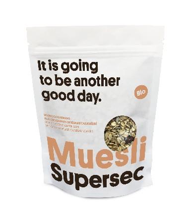 Petit-déjeuners Mueslis & Granola Supersec BIO<br /> <br /> Sain & fort en goût:<br /> Le séchage à basse température (42 °C) comme moyen efficace de concentration du goût, de préservation des vitamines et des nutriments.<br /> <br /> Artisanal:<br /> Supersec travaille avec des artisans, pas avec des industriels.<br /> <br /> Naturel:<br /> Les produits Supersec sont garantis sans additif.<br /> <br /> Responsable:<br /> Réduction de l'empreinte écologique: secs, les produits Supersec sont 10 à 20 fois plus légers que des produits frais.